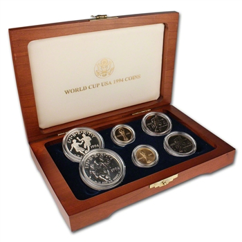 1994 US World Cup 6-Coin Commemorative Set