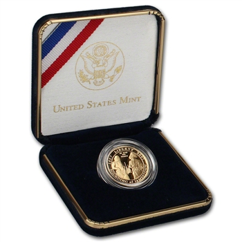 2007-W US Gold $5 Jamestown 400th Anniversary Commemorative Proof