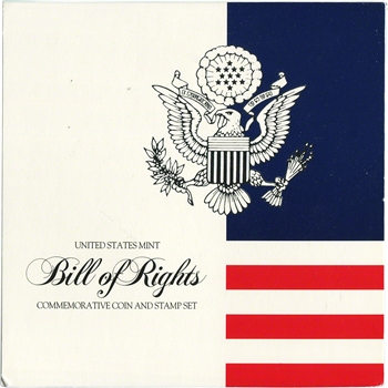 1993 US Commemorative Bill of Rights Coin & Stamp Set