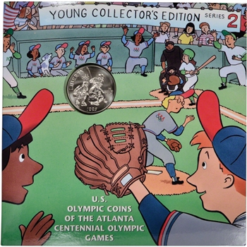 1995 US Olympic Baseball Commemorative Half Dollar - Young Collector's Edition