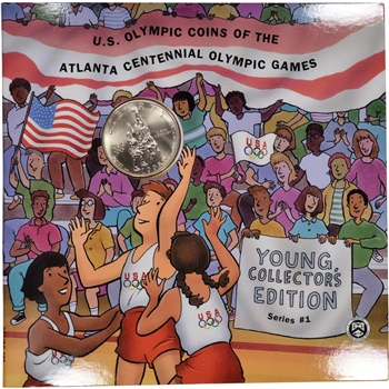1995 US Olympic Basketball Commemorative Half Dollar - Young Collector's Edition