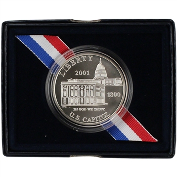 2001-P US Capitol Visitor Center Commemorative BU Silver Dollar