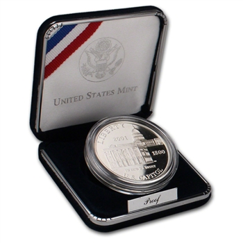2001-P US Capitol Visitor Center Commemorative Proof Silver Dollar