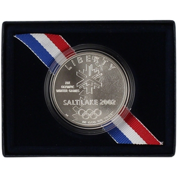 2002-P US Salt Lake City Olympic Winter Games Commemorative BU Silver Dollar