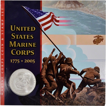 2005 US Marine Corps. Commemorative Coin and Stamp Set