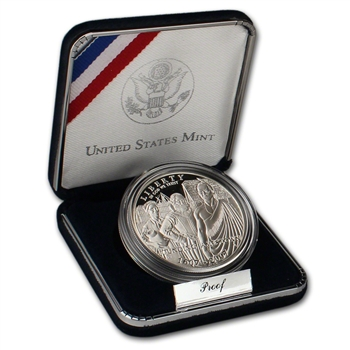 2007-P US Jamestown 400th Anniversary Commemorative Proof Silver Dollar