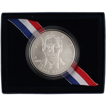 2009-P US Louis Braille Bicentennial Commemorative BU Silver Dollar