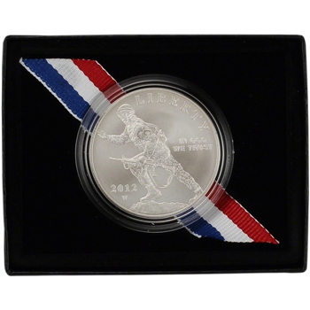 2012-W US Infantry Soldier Commemorative BU Silver Dollar