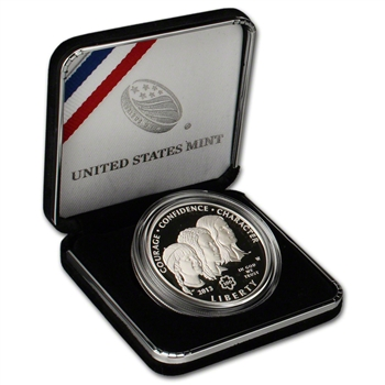 2013-W US Girl Scouts Centennial Commemorative Proof Silver Dollar