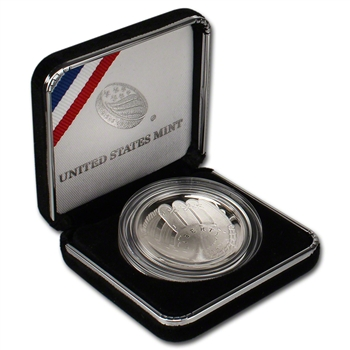 2014-P US National Baseball Hall of Fame Commemorative Proof Silver Dollar $1