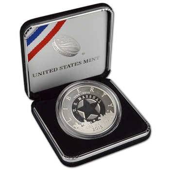 2015-P US Marshals Service 225th Anniversary Commemorative Proof Silver Dollar