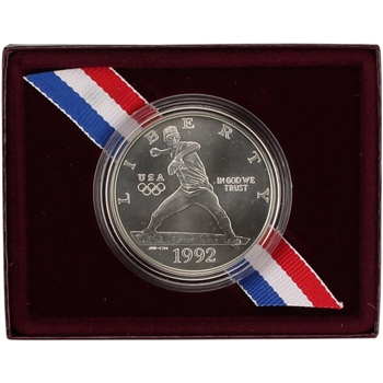 1992-D US Olympic Commemorative BU Silver Dollar