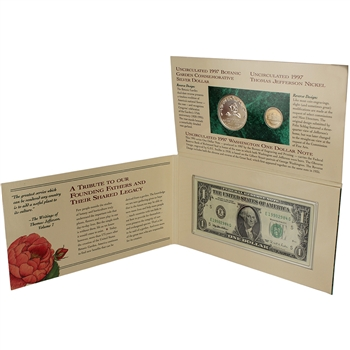 1997 US Botanic Garden Coinage & Currency Set