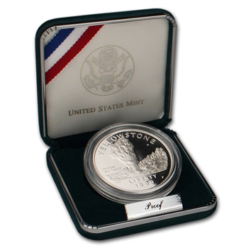 1999-P US Yellowstone National Park Commemorative Proof Silver Dollar