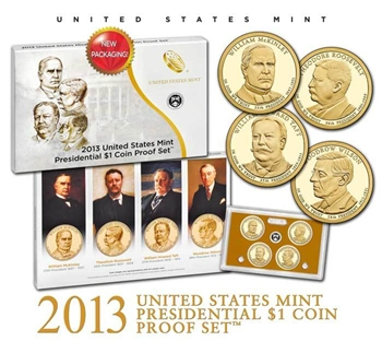 2013-S US Mint Presidential $1 Coin Proof Set