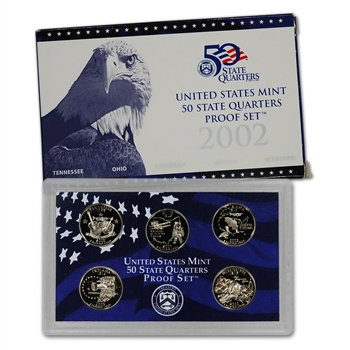 2002-S US Mint Quarters Proof Set