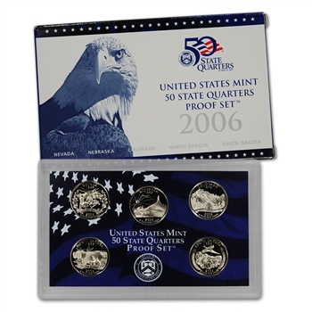 2006-S US Mint Quarters Proof Set