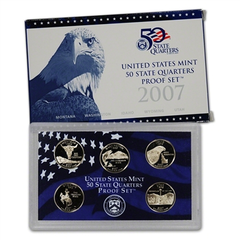 2007-S US Mint Quarters Proof Set
