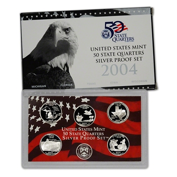 2004-S US Mint Quarters Silver Proof Set