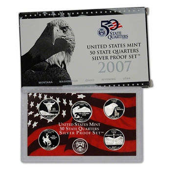 2007-S US Mint Quarters Silver Proof Set