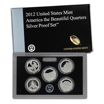 2012-S US Mint Quarters Silver Proof Set