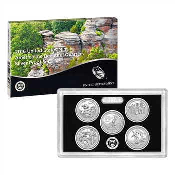 2016 United States Mint America the Beautiful Quarters Silver Proof Set? (16AQ)