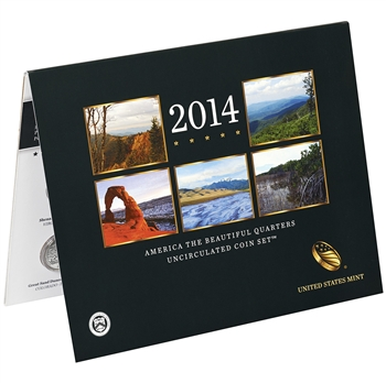 2014 America the Beautiful Quarters Uncirculated Coin Set (N98)