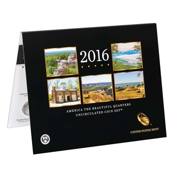2016 America the Beautiful Quarters Uncirculated Coin Set (16AA)