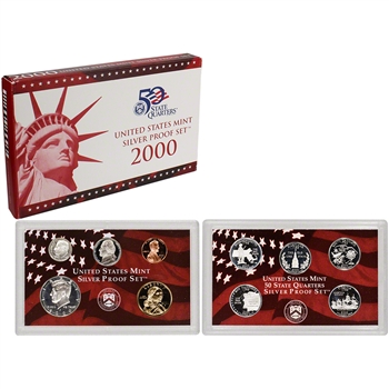 2000-S US Mint Silver Proof Set