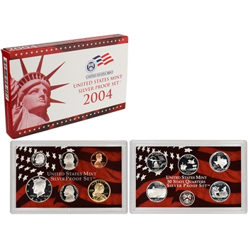 2004-S US Mint Silver Proof Set