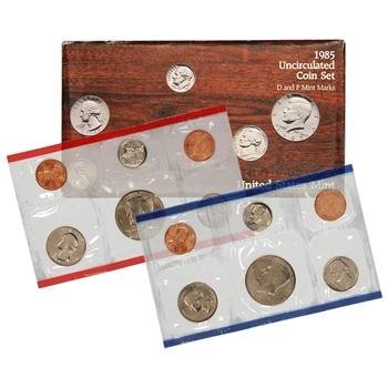1985 US Mint Uncirculated Coin Set