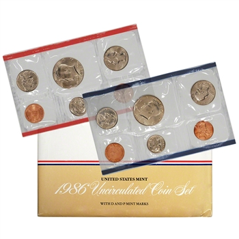 1986 United States Mint Uncirculated Coin Set