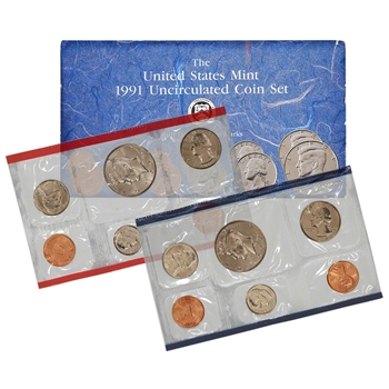 1991 United States Mint Uncirculated Coin Set (U91)