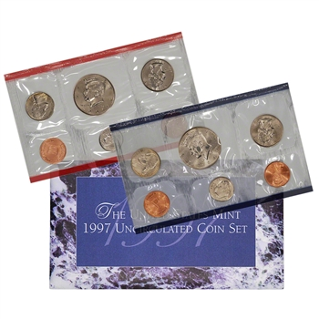 1997 United States Mint Uncirculated Coin Set (U97)