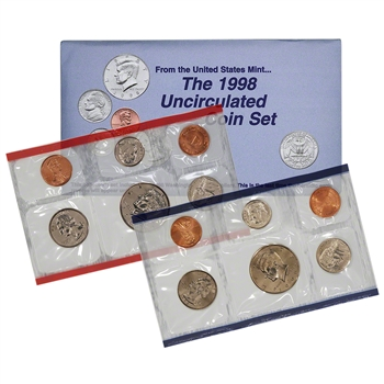 1998 United States Mint Uncirculated Coin Set (U98)