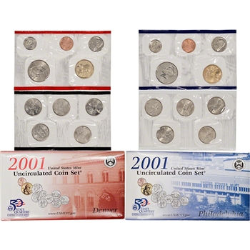2001 US Mint Uncirculated Coin Set