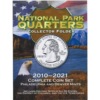 Whitman National Park Quarters Collector Folder - Philadelphia and Denver Mints