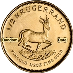 South Africa Gold Krugerrand - 1/2 oz - BU - Random Date