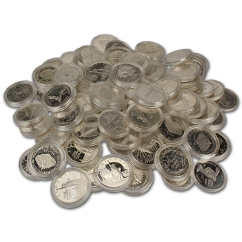 TEN (10) US Silver $1 Commemorative Coins (.77344 oz) - Random Date