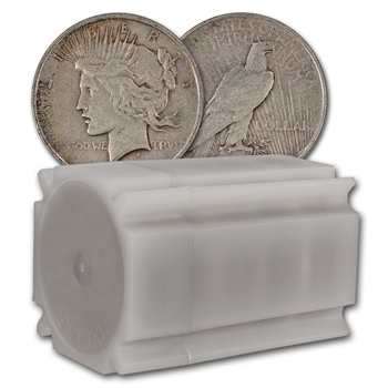 US Peace Silver Dollar - Roll of 20 coins - Average Circulated - Random Date