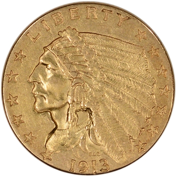 US Gold $2.50 Indian Head Quarter Eagle - Extra Fine - Random Date