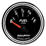 Auto Meter 1206 Designer Black II 240 Ohms E - 33 Ohms F Fuel Level Gauge