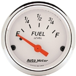 Auto Meter 1315 Arctic White 0 Ohms Empty-90 Ohms Full Fuel Level Gauge