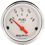 Auto Meter 1317 Arctic White 240 Ohms Empty-33 Ohms Full Fuel Level Gauge