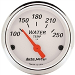Auto Meter 1337 Arctic White 120-250 °F Water Temperature Gauge