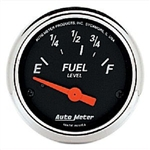 Auto Meter 1423 Designer Black 73-10 Ohms Fuel Level Gauge