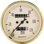 Auto Meter 1593 Golden Oldies 0-120 MPH Mechanical Speedometer
