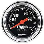 Auto Meter 2451 Traditional Chrome 140-280 °F Transmission Temperature Gauge