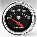 Auto Meter 2543 Traditional Chrome 140-300 °F Oil Temperature Gauge