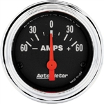 Auto Meter 2586 Traditional Chrome 60-0-60 Ammeter Gauge